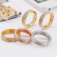 stainless steel diamond rings