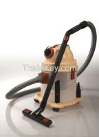 Vacuum cleaner with paper bags and blowing function