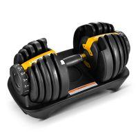 Adjustable Black Gym Fitness Dumbbell Sets for Home Office Use
