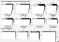 Anti-slip vinyl stair tread nosings