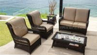 Poly rattan sofa set