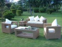 Wicker Furniture: Poly rattan sofa set   PRSF-020