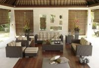 Wicker Furniture: Poly rattan sofa set   PRSF-085