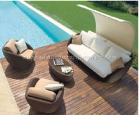 Wicker Furniture: Poly rattan sofa set   PRSF-110