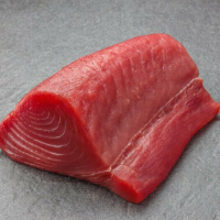 Ahi Yellowfin Tuna Fish Loin Wild Caught Frozen 10 lb., Steaked