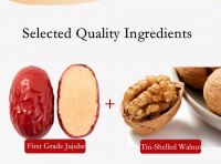 Sweet dried red dates jujube with walnut kernels healthy snack food for sell