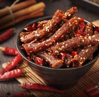 Wholesale OEM Bulk 108g Spicy Snack Food Dried Meat Cooked Jerky Beef Snacks