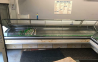 L shape butchers display fridge