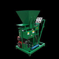 SHM2-25 semi automatic diesel engine hydraulic clay interlock Brick making machine small business machine ideas