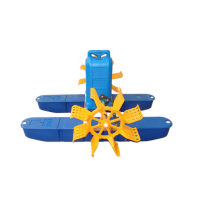High efficiency floating fish pond aerator/fish farming aerator/solar powered paddle wheel aerator for agriculture