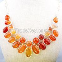 Natrual Stone Chunky Choker Statement Necklace Jewelry