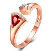 18K Gold Natural Ruby Gemstone Diamonds Ring Fine Jewelry