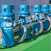 Mid-suction axial-flow pump
