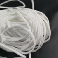 elastic cord white black flat ear loop polyester spandex