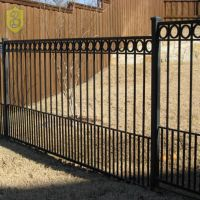 Wholesale China Factory Cheap Decorative Wrought Iron Metal Fence Panels