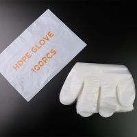 disposable poly plastic pe glove hdpe glove factory