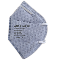5 ply AN95 Mask (valve) CE Certified N95 KN95 respirator grey color