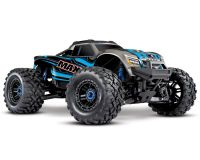 Traxxas 1/10 Maxx 4S 4WD VXL-4S Brushless 4x4 Monster Offroad RC Truck RTR Blue w/ TSM TQi Radio