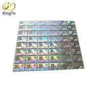 Color changing holographic sticker custom adhesive vinyl packaging sticker with continuation code
