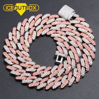 New Arrival Luxury Hips Hops 13mm Iced Out Bling Bling Rainbow CZ Cuban Chain Necklace Hip hop for Men Jewelry Factory Price