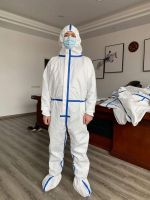 One-piece Disposable Protective Coverall Surgical Gown