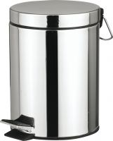 Stainless Steel 3L/ 5L/ 7L/ 12L/ 20L/ 30L Bathroom Trash cans with removetable inner wastebasket