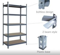 High quality storage shelves 2000 *600*2000mm sizes medium duty metal shelving   warehouse racking system