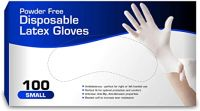 Powder Free Latex Gloves Ambidextrous - perfect for right or left handed use   Perfect fit for optimal protection and comfort. Anti-tear, Anti-Rip, ...