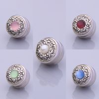 Blue Stone Silver Plated Scarf Magnet