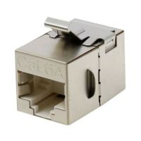 Cat6A STP 180 Degree Feed Through Coupler