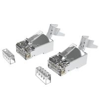 Cat6A RJ45 STP Connector For Solid Cable