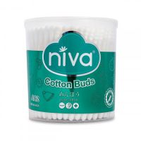 NIVA ROTATING JARS OF 200 COTTON BUDS PLASTIC STICK FOR ADULT