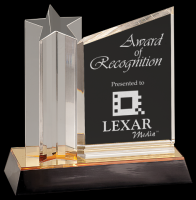 New Design Custom Engraved Clear Acrylic Blanks Award trophy