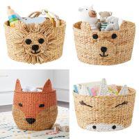 animal basket decor made by water hyacinth