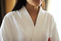 Bathrobe suppliers hotel white waffle women robes wholesale