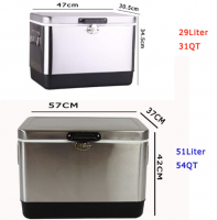 Stainless Steel Vacuum Insulated Hard Cooler 31QT/54QT Cooler Box Custom Logo Beer Box