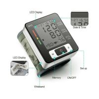 Smart electronic digital Wrist blood pressure Monitor Cuff Pulse Portable Tonometer Heart Rate
