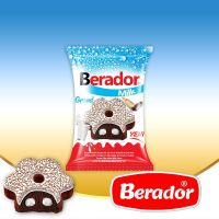 Berador milky white compound chocolate and granut coated cocoa cake with milk sauce