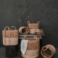 Cornhusk Water Hyacinth Storage Baskets