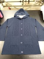 Ladies Hoody  Heavy Jacket  6 Buttons Cardigan in Sherpa Lining