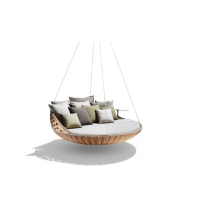 Arvabil Handmade Round Hang Swing Bed, Prime Design