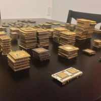 Ceramic CPU Scrap / Processors/ Chips Gold Recovery, Motherboard Scrap, Ram Scrap,Intel 486 & 386 cpu scrap