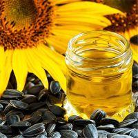 refined sunflower oil hot
