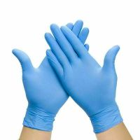 100 Pcs Nitrile Blue Durable Rubber Cleaning Hand Gloves Powder Latex Free US