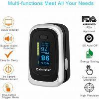 100% Pulse Oximeter Fingertip Blood Oxygen SpO2 Monitor PR PI heart
