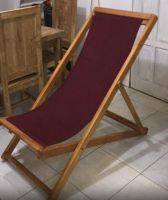 Folding chair with fabric