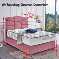 gaslift full storage underneath uphostery OS Bed Pink