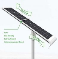 HP-3000SC 50W Solar LED street light Irobot (Self Cleaning)