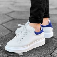 High Sole Sneakers White and Blue