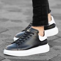 High Sole Gold Crown Men Sneakers
